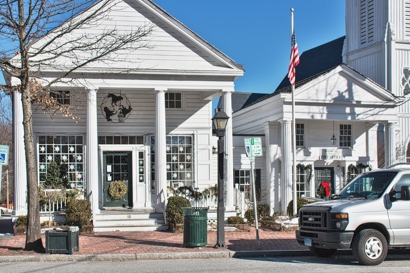 The Horse Connection and Post Office on Bedford Village Green