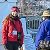 Executive Director Janelle Robbins at BAS Eagle Viewing Station on New Croton Dam -Teatown Eagle Fest, February 10, 2013