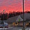 Sunset at Hunting Ridge Mall - January 20, 2013