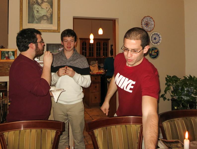 Christmas 2013 at Bob & Rob's - Dave, Josh & Gregg