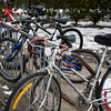 Bicycle rack in Pleasantville