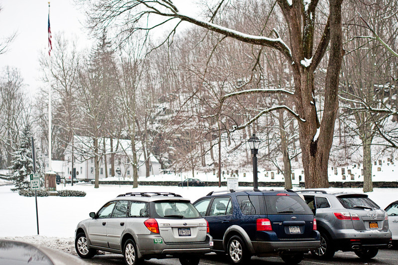 Bedford Village Green from US Post Office - January 16, 2013