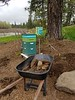 May 1, 2017 - Apiary from new stairs looking South.  Survivor Hive in foreground.