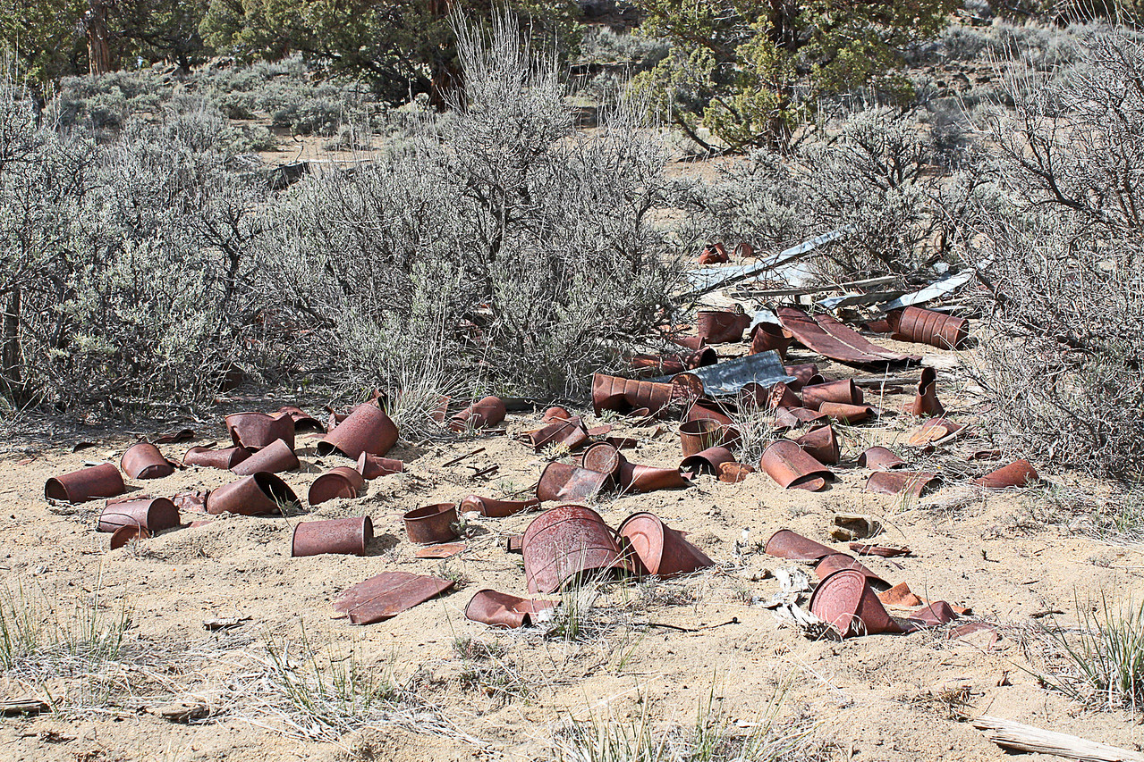 Old can shooting site in the Badlands Wilderness Nature Study Area, Bend, Oregon