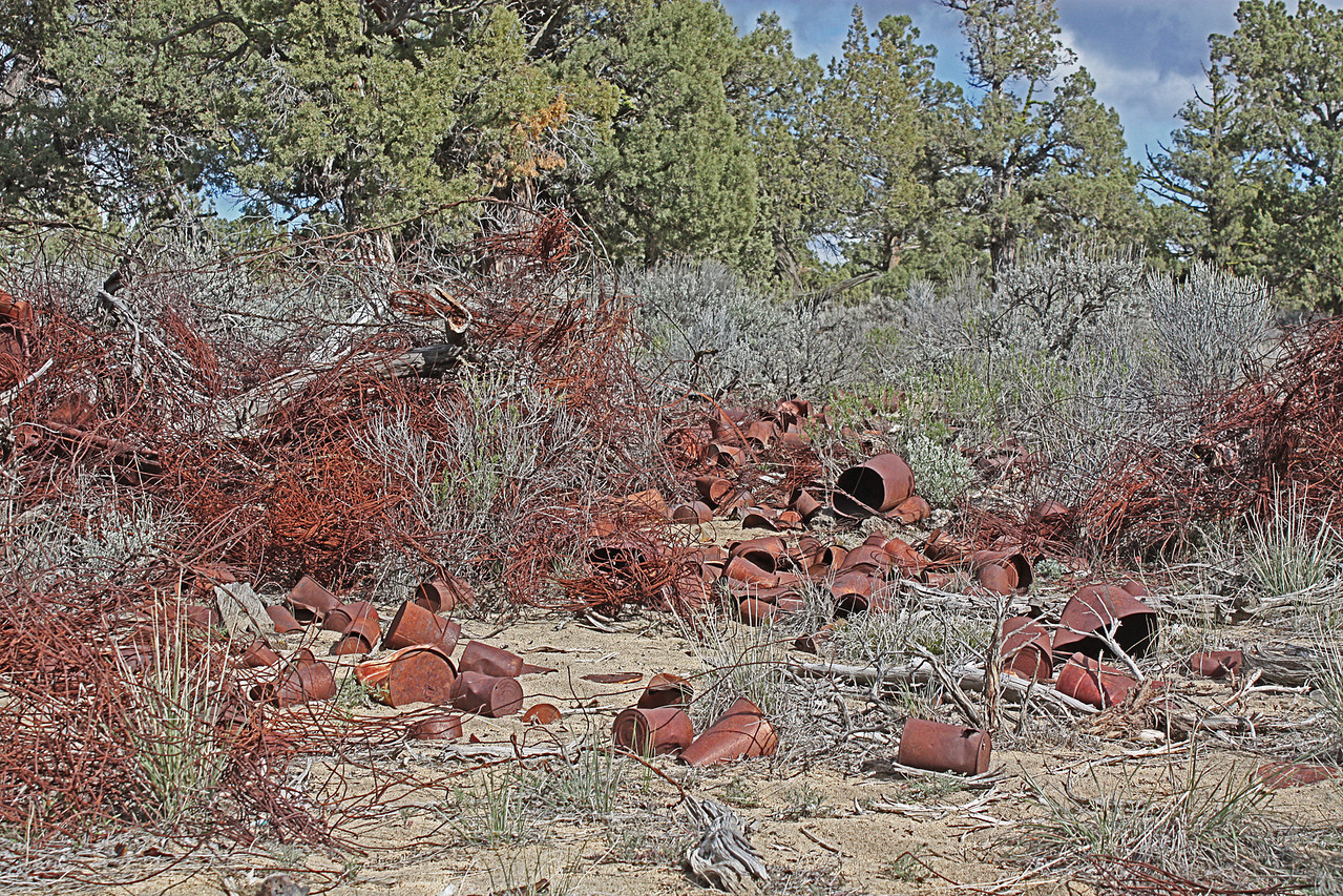 The piles of old stuff in the Badlands Wilderness Nature Study Area, Bend, Oregon