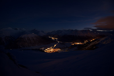 Upper Engadine at night