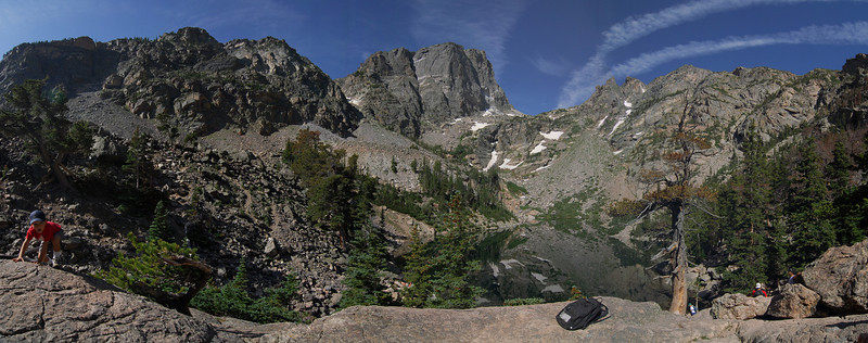 Emerald Lake panorama. Rocky Mountains National Park