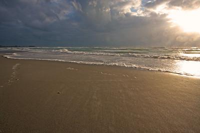 Lido Key Beach, stormy sunset