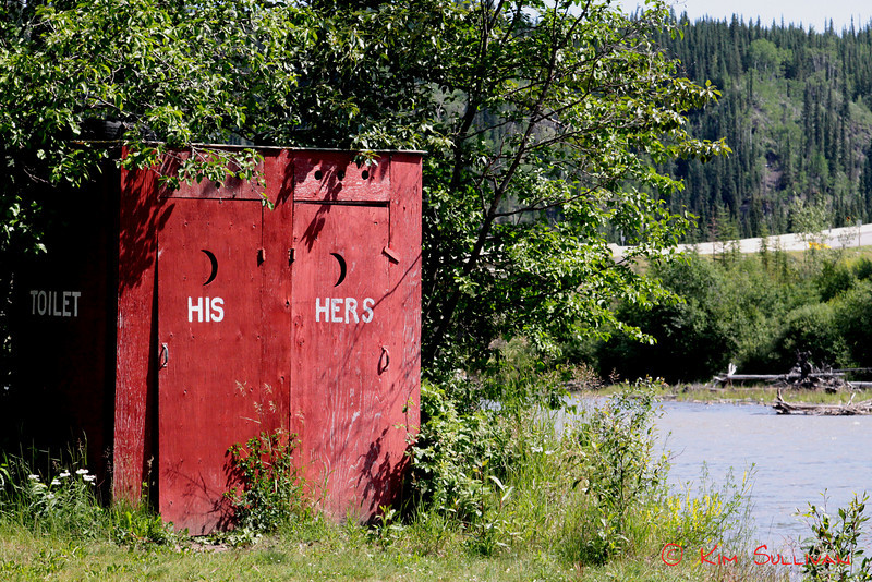 A place to freshen up! Campground at Buckinghorse River, along the Alaska Highway