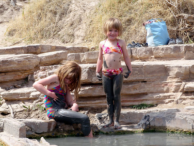 Kids Playing in the Mud at the Hot Springs