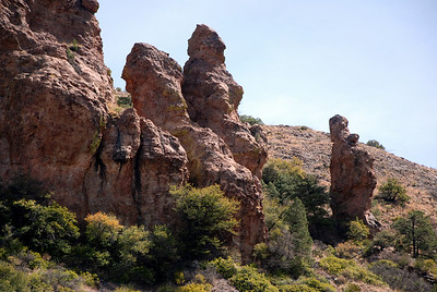 Hoodoos in Chisos Basin