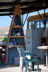 Las Ruinas Campground Cooking Area at Terlingua, TX