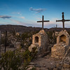 The Terlingua Ghost Town cemetery.