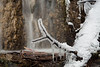 Waterfall with icicles, Big Hill Springs