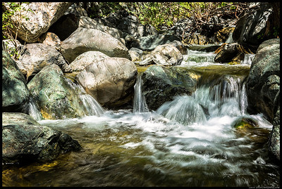 A small cascade downstream from Salmon Creek Falls.