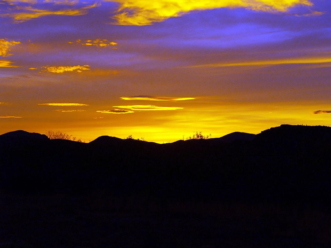 OLYMPUS DIGITAL CAMERA--Beautiful sunset over Van Horn, Texas.