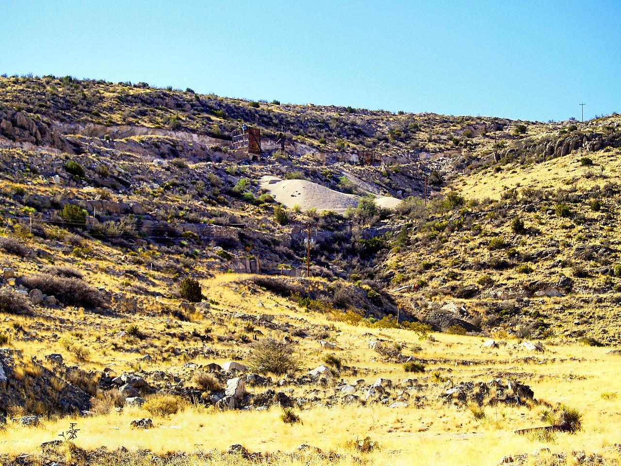 OLYMPUS DIGITAL CAMERA--Hopper, rock crusher, and dumps on the lower Blanchard claim.