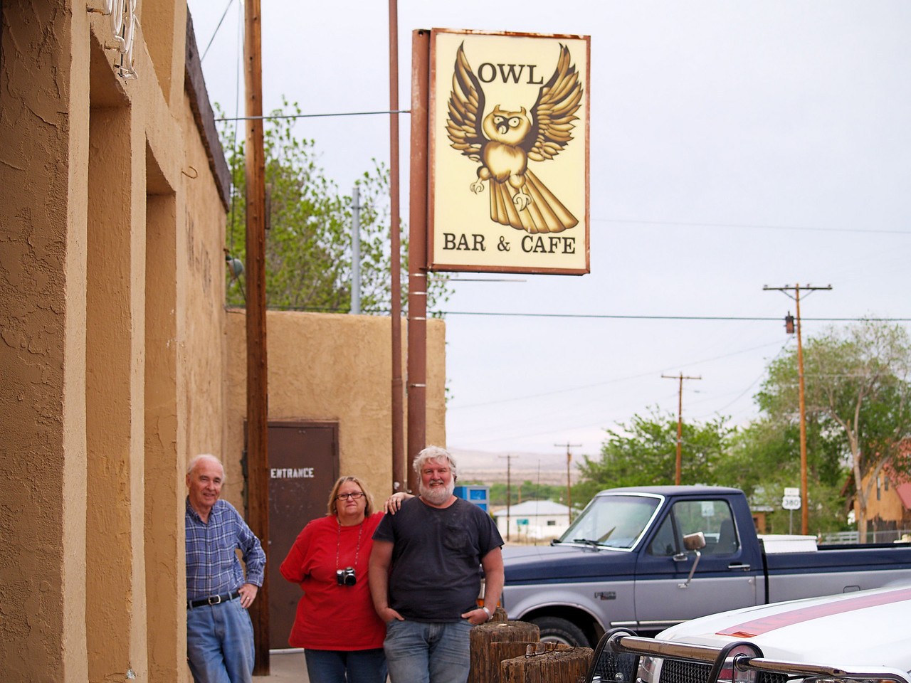 OLYMPUS DIGITAL CAMERA--Outside the historic Owl Bar in San Antonio, New Mexico.  Great green chile cheeseburgers.