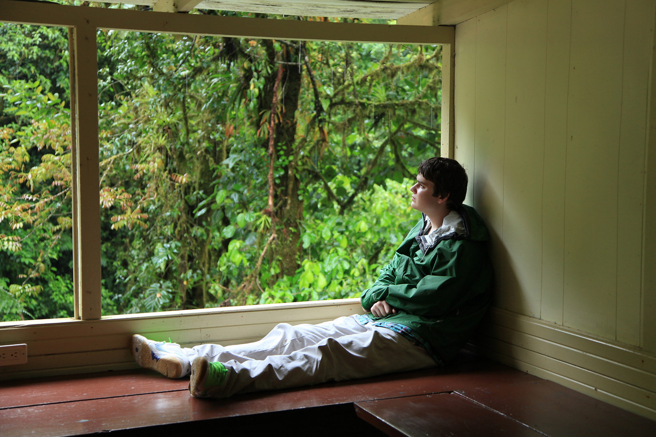 Alex on the porch, Alberto Manuel Brenes Biological Reserve, Costa Rica