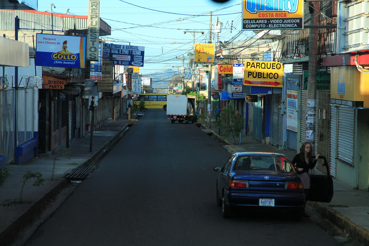Typical street scene, Alajuela, Costa Rica