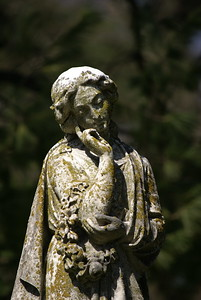 One of the many beautiful gravestones