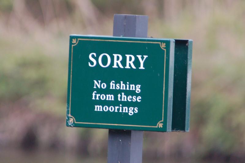 No fishing sign Norfolk May 2010
