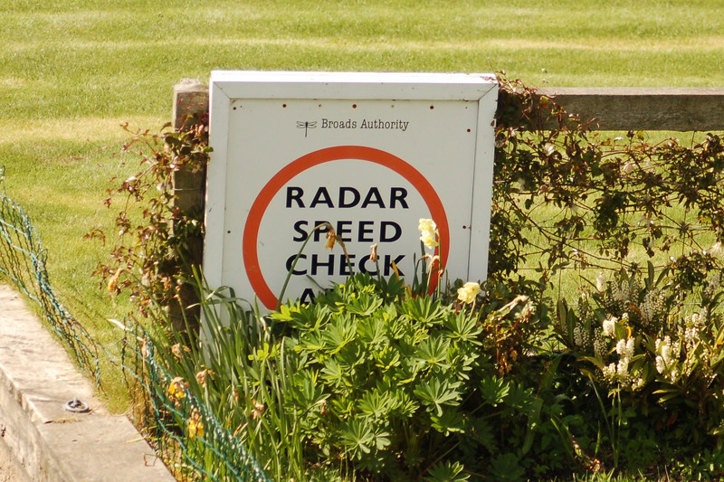 Speed check sign Norfolk May 2010