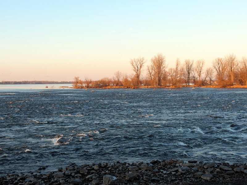 View of the rapids from Fort Chambly