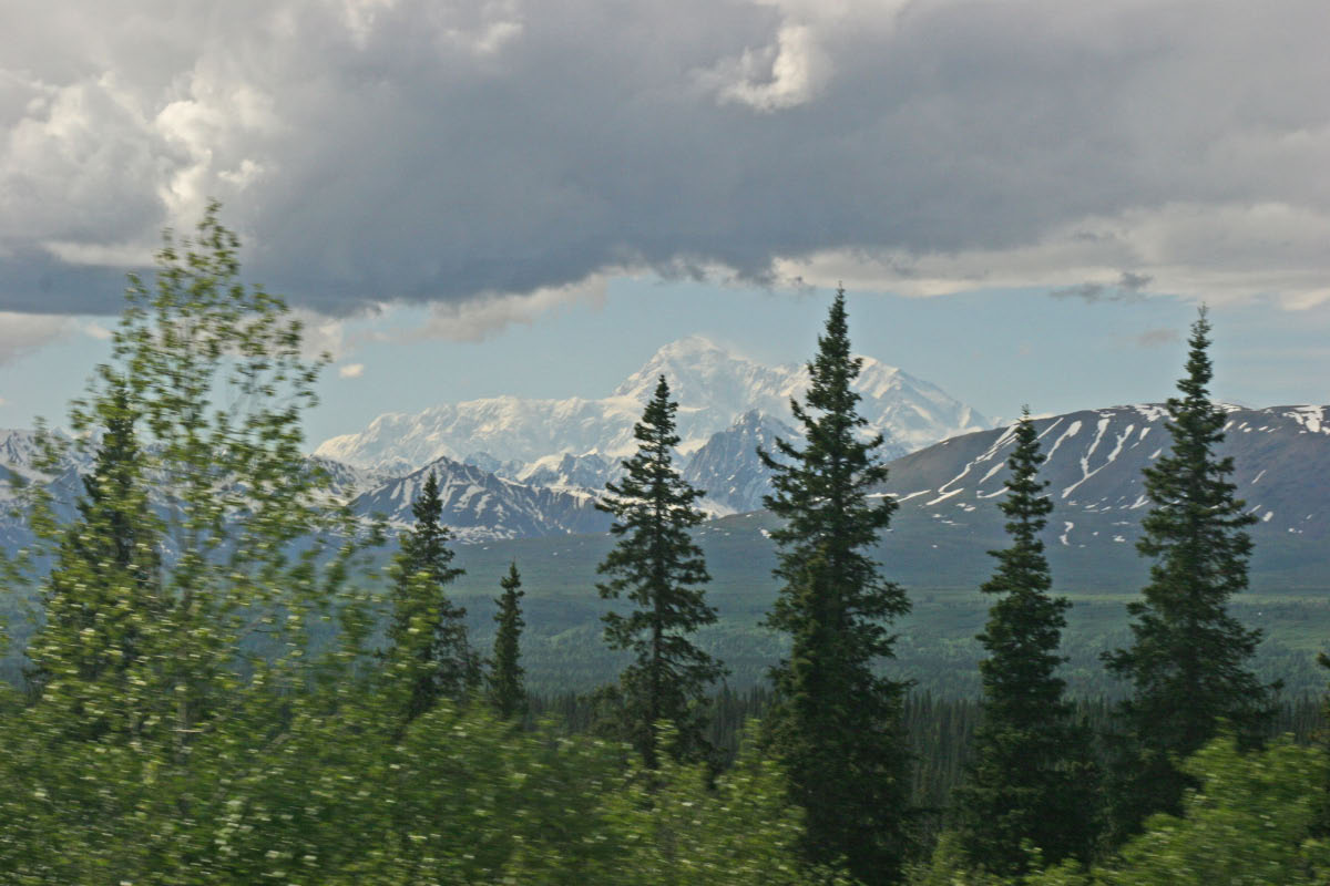 Alaska Mountain Range from Parks Hwy
