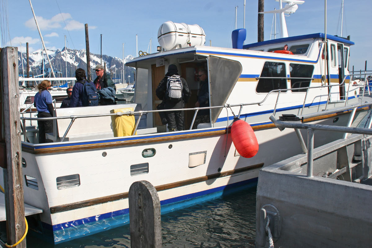 Kenai Fjords NP Tour Boat.   This was our exclusive tour boat for the day.