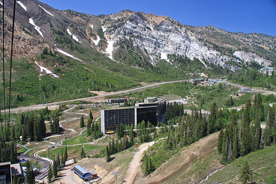 Cliff Lodge from Aerial Tram