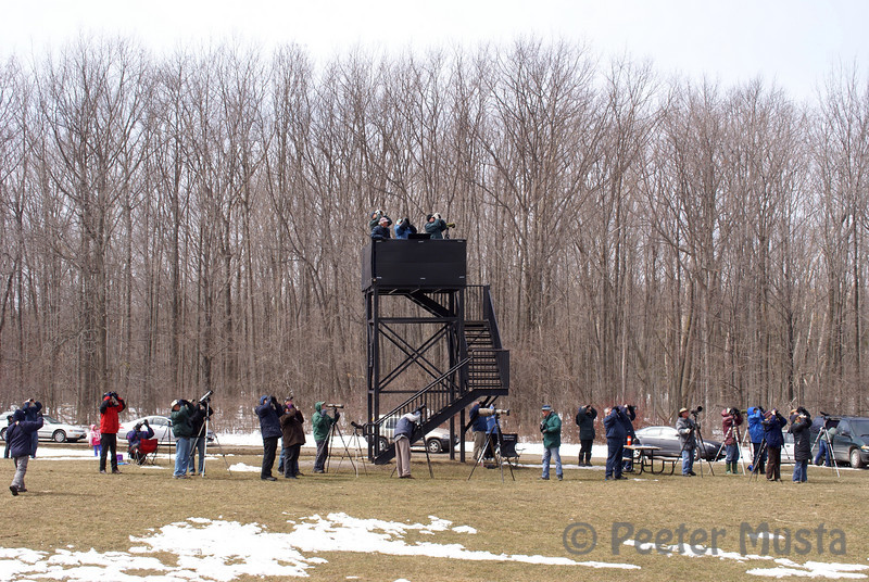 Observation Tower and some of the many other spectators present today.