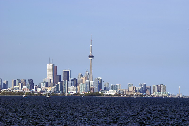 Toronto Skyline from Col. Samuel Smith Park.
