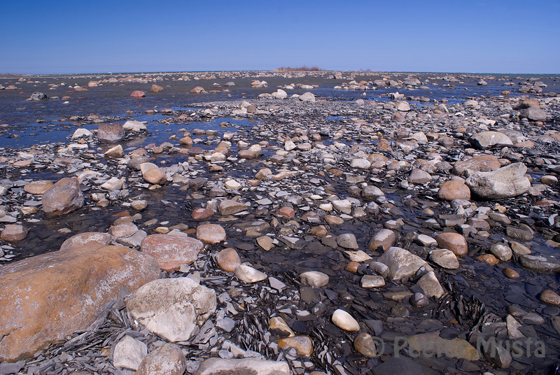 The landscape of Kettle Point, a loose extension of rock into Lake Huron.
