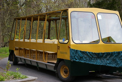 One of the tram cars which carries passengers to the tip from the Visitor Centre.
