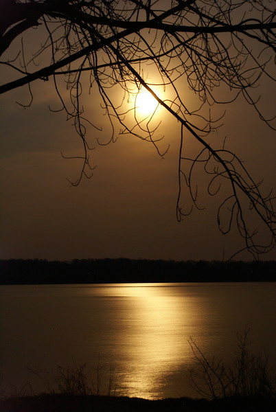 Midnight Sun - full moon over Lake Scugog