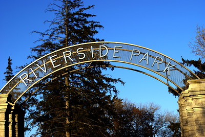 Entrace to Riverside Park in Cambridge, ON