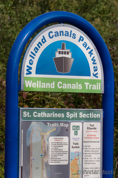 Welland Canals Trail sign.
