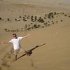 climbing dune 7, walvis bay