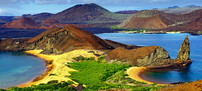 glc01: panorama of Bartolome Island
