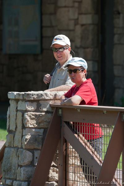 Myra and Chris at the Anahuac Nature Center