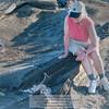 Lava Heron and Visitor-Santiago Island-Galapagos