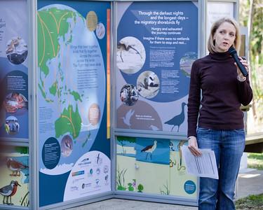 Councillor Amanda Cooper - World Migratory Bird Day, Boondall Wetlands, Brisbane. Photos by Des Thureson:  http://disci.smugmug.com