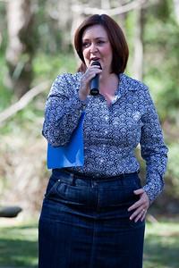 Councillor Victoria Newton - World Migratory Bird Day, Boondall Wetlands, Brisbane. Photos by Des Thureson:  http://disci.smugmug.com