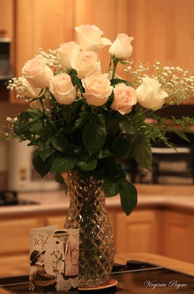 Light pink rose bouquet also from Rod for my Gregorian calendar birthday.