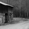 An old barn at Cataloochee, Great Smoky Mountains.