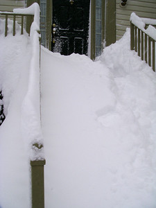 front steps- my back hurts thinking about shoveling all of that