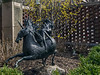 "Unicorn 01<br /> Rampant Unicorn by Berthold ""Tex"" Schiwetz<br /> <br /> Courtyard Garden of the Michigan League."