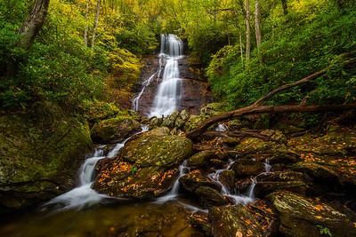 Upper Sols Creek Falls Landscape in Autumn