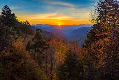 Autumn Sunrise at Great Smoky Mountains National Park